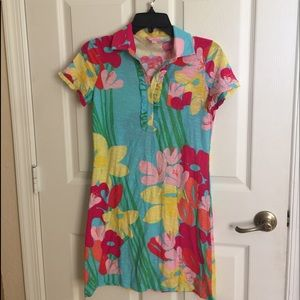 Lilly Pulitzer Polo style T Shirt dress